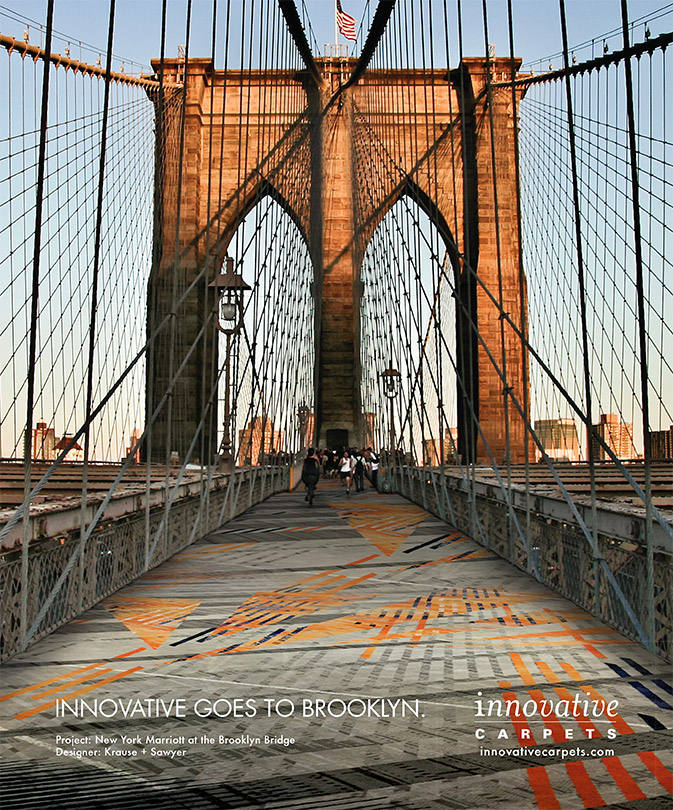 Brooklyn Bridge Ad for Innovative Carpets