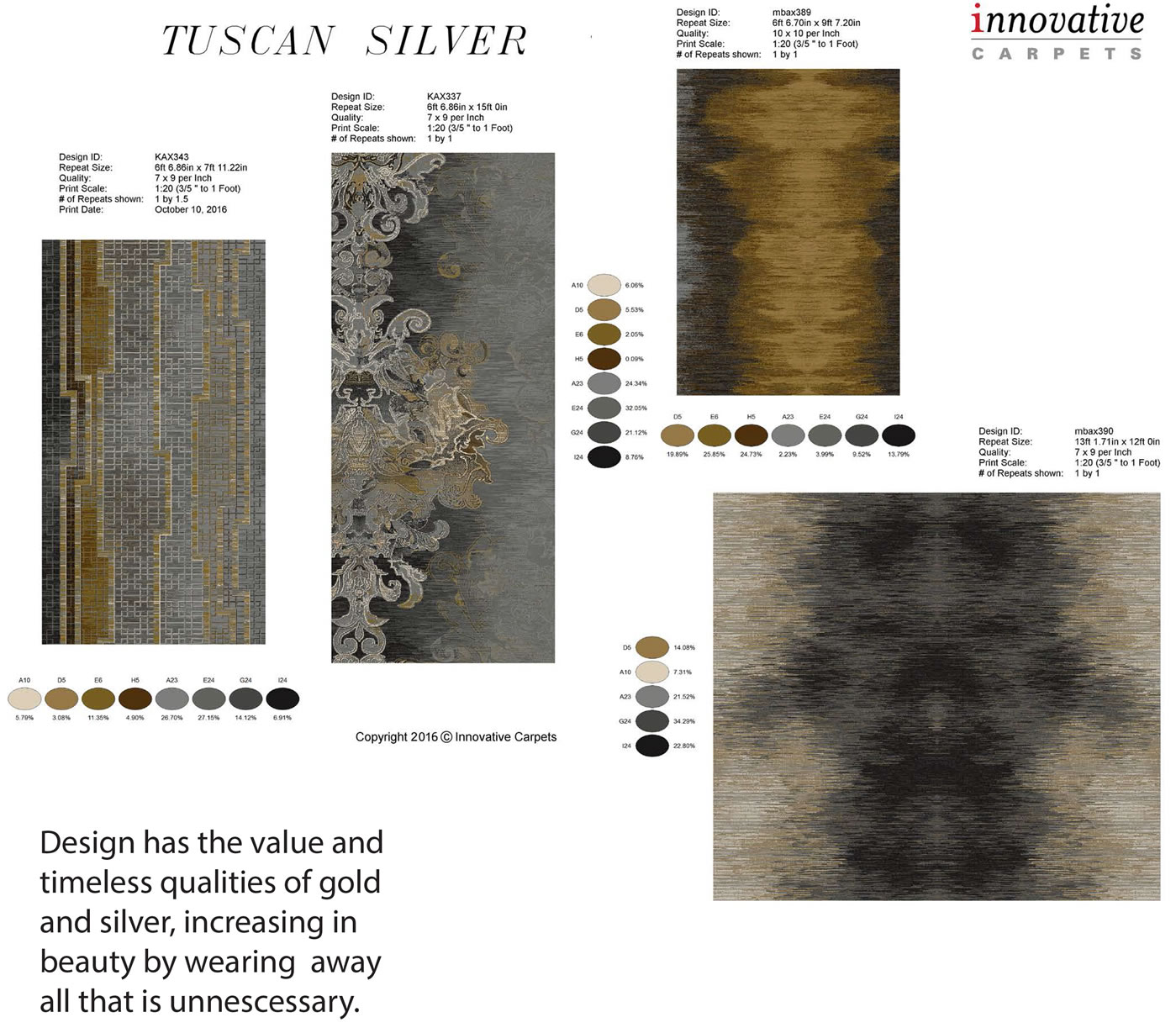 tuscan silver collection